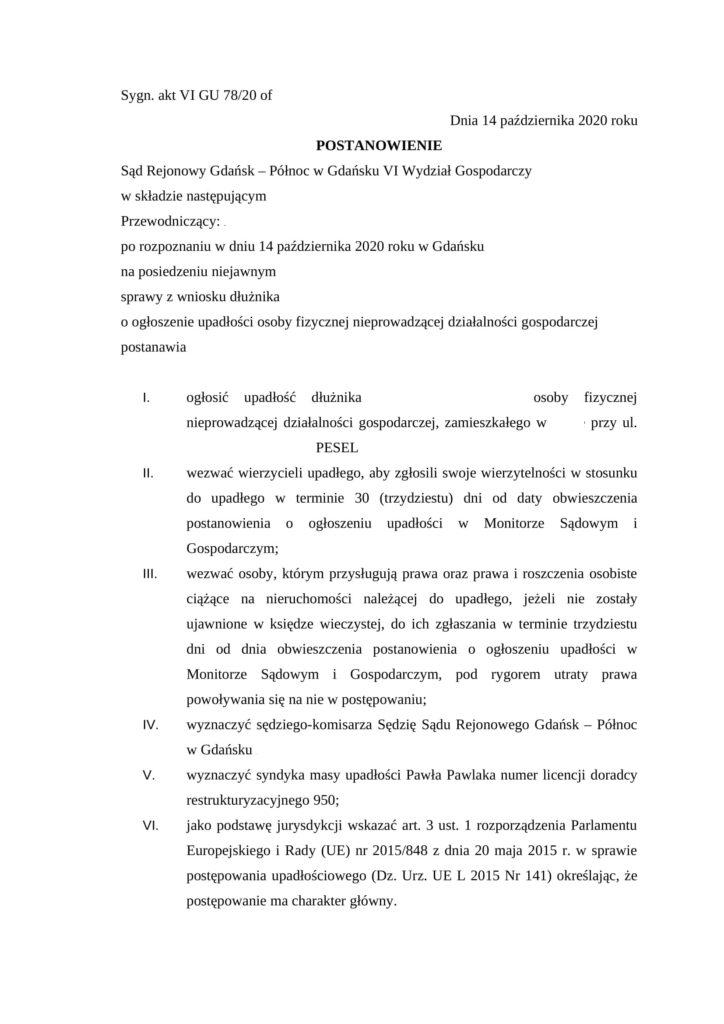 Upadłość Konsumencka Gdańsk